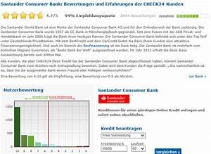 Santander Bank Kredit Erfahrungen : santander kreditkarte erfahrungen aus test note 6 9 10 ~ Jslefanu.com Haus und Dekorationen