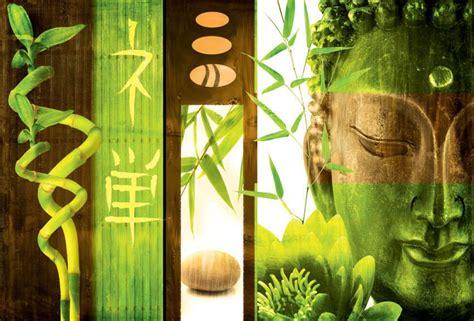 acheter chambre de bonne tableau buddha vert toile haute qualité bambous et