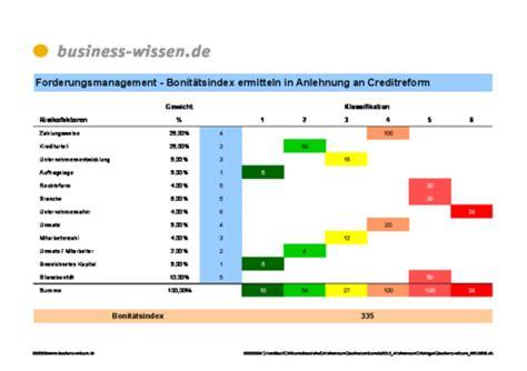 bonitaetsindex ermitteln  anlehnung  creditreform