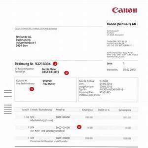 Rechnung In Die Schweiz Muster : service rechnung canon schweiz ~ Themetempest.com Abrechnung