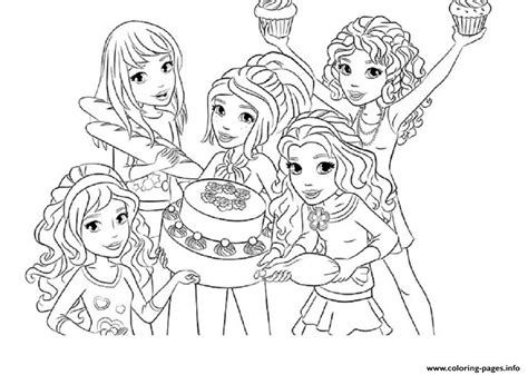 Kleurplaat Lego Friends by Lego Friends Food Coloring Pages Printable