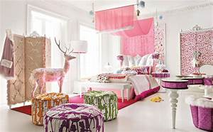 Nice decors blog archive stylish pink teen girls room for Teen girl room ideas