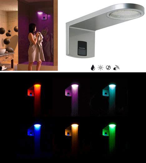 led shower light fixture bathe in light adjustable 6 color rain flow shower head