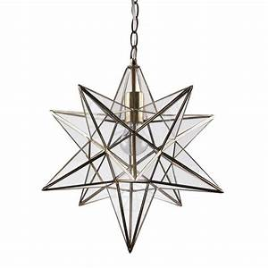 Star lantern antique brass ceiling pendant light by