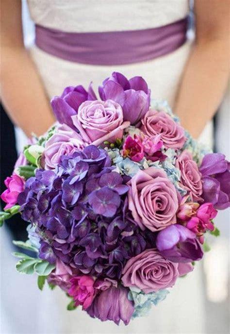 trendy purple wedding flowers arrangement  wedding guides