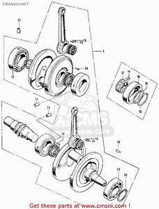 Honda Cb350 Super Sport 350 K3 1971 Usa Crankshaft