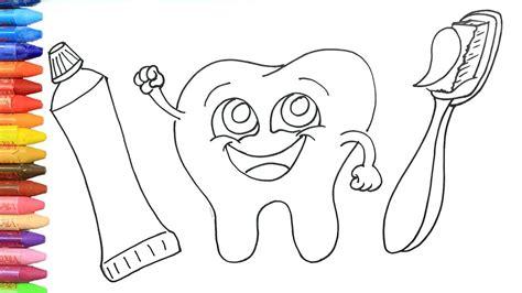 dientes lindos dibujos  dibujar dibujos  pintar dibujos  colorear youtube