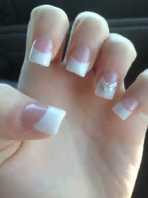 Acrylic Nails French Manicure with Designs