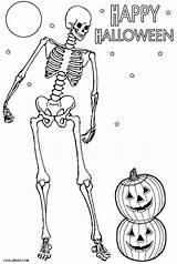 Skeleton Coloring Halloween Printable Cool2bkids Skeletons Sheets Printables Bone Whitesbelfast sketch template