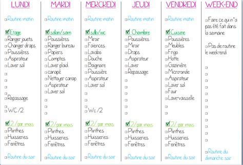 modele planning organisation maison ccmr