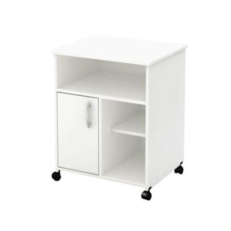 Home Depot Microwave Stand by South Shore 23 5 In W Microwave Kitchen Cart With