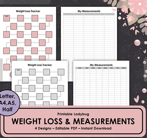 weight loss chart templates  excel formats