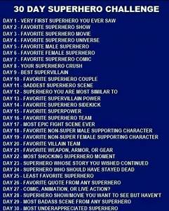 30, Day, Superhero, Challenge