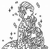 Coloring Crochet sketch template