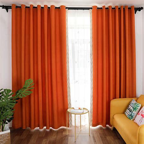 burnt orange curtains drapes burnt orange bright linen modern chic blackout thermal