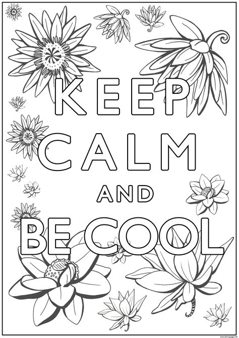 calm   cool coloring pages printable