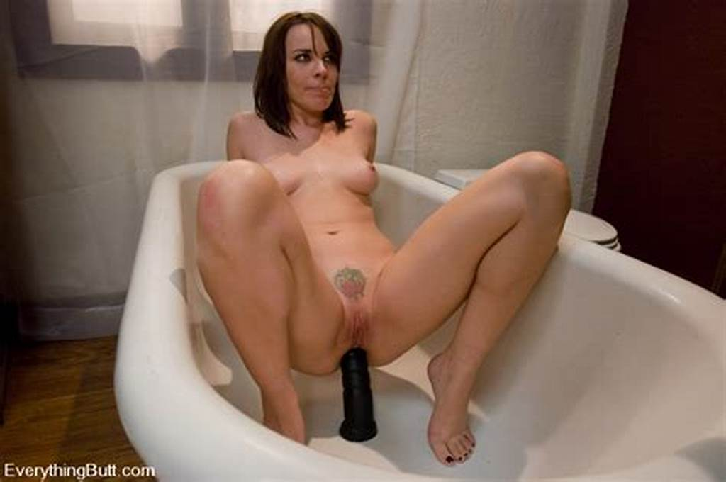 #Sitting #On #Monster #Dildo #In #The #Tub #13890