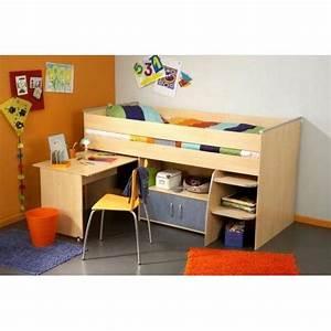 Lit Combiné Bureau : lit combine bureau topiwall ~ Premium-room.com Idées de Décoration