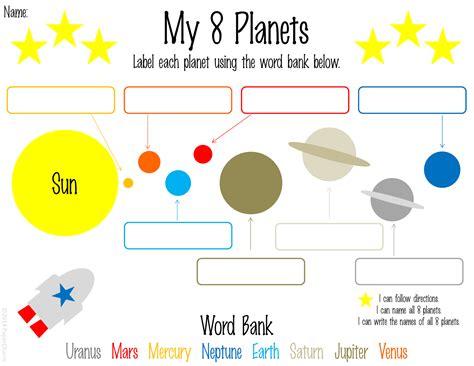papercharm free 1st grade planet printables planet