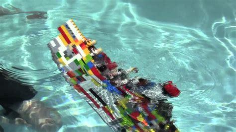 lego ships sinking in water lego titanic sinks