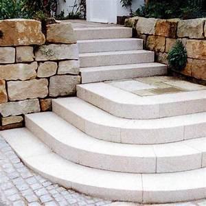 Treppenstufen Außen Stein : blockstufen halbrund mischungsverh ltnis zement ~ Orissabook.com Haus und Dekorationen