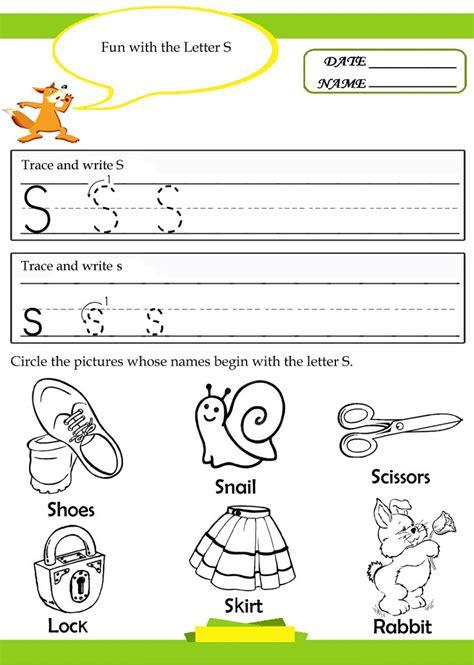 Trace Letter S Worksheets  Loving Printable