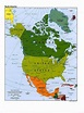Large political map of North America. North America large ...