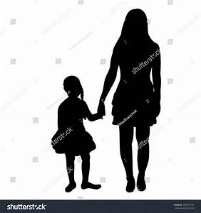 Mother And Daughter Holding Hands Silhouette | www.imgkid ...