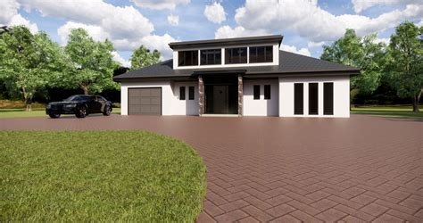 modern chalet bungalow ready  building control houseplansdirect