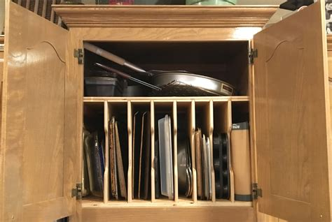 organizer sheet cabinet cookie baking portfolio wood