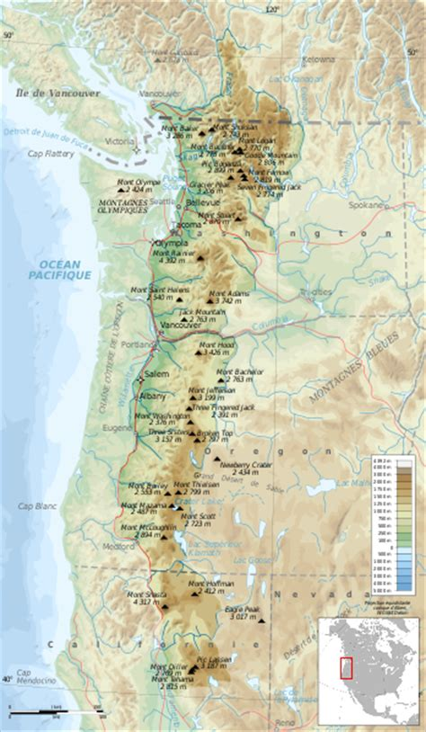 cascade mountain range map images