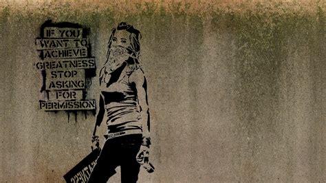 wallpaper  px artwork banksy graffiti