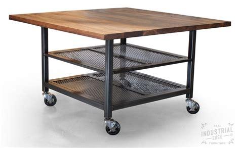 metal kitchen islands crafted custom walnut steel kitchen island metal