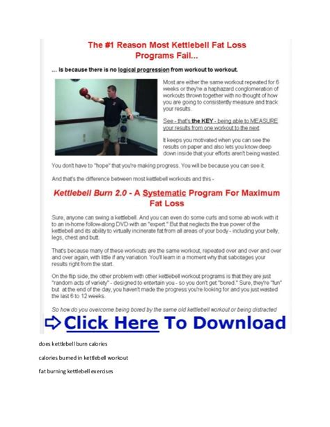 kettlebell burn fat calories burning does workout swings many belly pdf geoff neupert xtreme routine exercises program extreme burned
