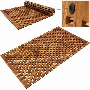 Tapis En Bois : tapis de salle de bain tapis de sol antid rapant en bois ~ Teatrodelosmanantiales.com Idées de Décoration