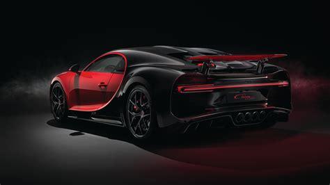 Bugatti Chiron Sport 2018 (red) 3/4 Rear View 4k Ultrahd