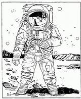 Coloring Space Astronaut Outer Colouring Astronaute Dessin Coloriage Imprimer Astronauts Cartoon Frais Adults Zeichnung Cp Popular Tooth Desenhos Fuer Populaire sketch template