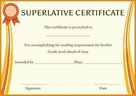 superlative award certificate templates superlative