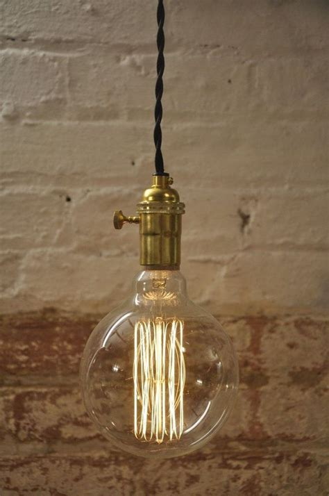 unfinished brass turn knob pendant light fixture hanging