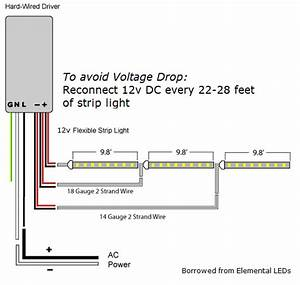 What Is Voltage Drop  12v Led Strip Light Wire Gauge Calculation In Long Runs