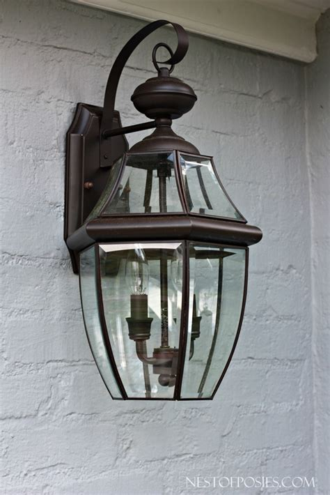 carriage house light fixtures front porch curb appeal