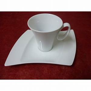 Tasses à Thé : tasse a the oceane 24cl avec soustasse en porcelaine blanche centre vaisselle sarl la ~ Teatrodelosmanantiales.com Idées de Décoration
