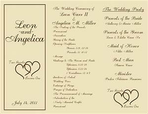 Free printable wedding programs templates sample wedding ceremony programs sample wedding for Image of wedding program