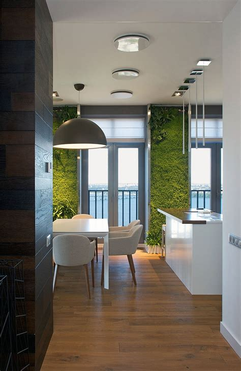 Interior Design Pictures by Accent Green Walls For A Stylish Apartment