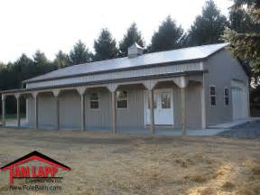 Pole Barn Buildings with Porch