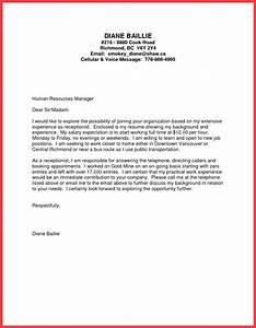 cover letter examples for receptionist position with no experience - formal cover letter sample memo example