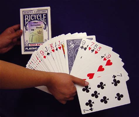 bicycle invisible deck trick invisible deck jumbo bicycle back wholesale magic