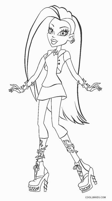 Free Printable Monster High Coloring Pages For Kids ...