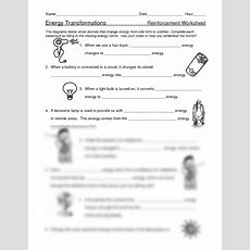 Pictures Energy Transformation Worksheet Middle School,  Drawings Art Gallery