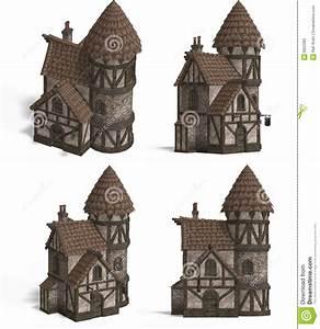Häuser Im Mittelalter : mittelalterliche h user gasthaus stock abbildung ~ Lizthompson.info Haus und Dekorationen